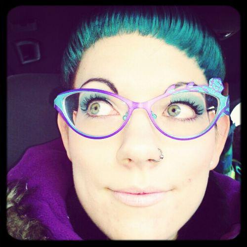 Eyes Glasses Make Up Just Me Turquoise Boz