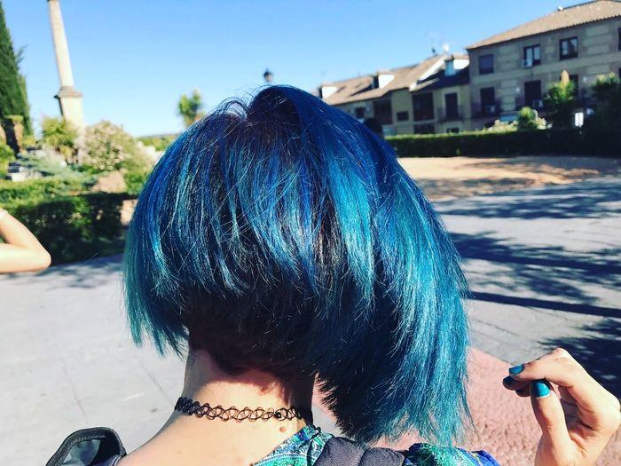 Hairstyle Haircut Haircolor Blue Hairdresser