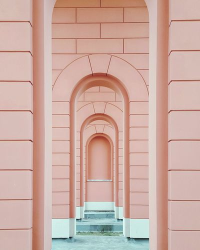 nobody in a frame Architecture Built Structure No People City Urban City Life Urban Photography Modern Design Pattern Colors and patterns TakeoverContrast Minimalist Building Story Pastel Rosé Minimal Urban Architecture Minimalist Architecture Millennial Pink The Architect - 2017 EyeEm Awards