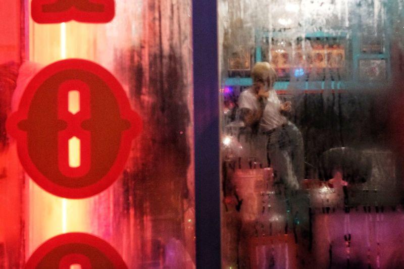 Tattoo HUAWEI Photo Award: After Dark Summer Colors Everydayeverywhere FilipinoStreetPhotographers Glass - Material Reflection Window Transparent Red Communication Illuminated