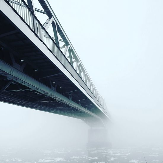 Bridge - Man Made Structure Water Architecture Bridge Winter Fog