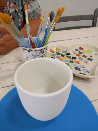 Art And Craft Paintbrush Art And Craft Equipment Paint Indoors  Table No People Close-up Art Studio Palette Day Colors Colour Creative Painting Paintbrushes Paintbrush