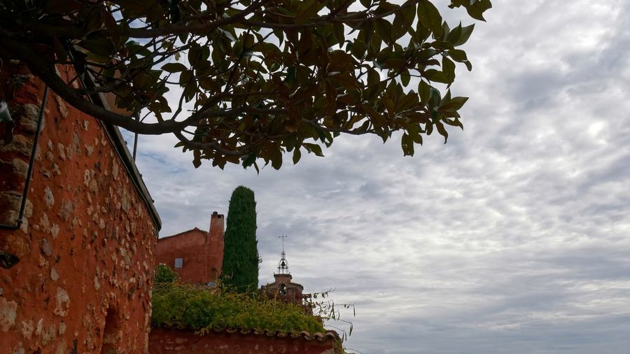 Day No People Outdoors Sky Sky And Clouds Cloud Cloud - Sky Clouds And Sky Architecture Architecture_collection Façade Ocher Ocher Color Cityscape TOWNSCAPE Old Town Old Built Structure Tree Plant Building Exterior Nature History The Past Place Of Worship Religion Low Angle View Building Belief Spirituality