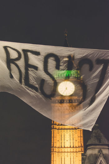 Anti Trump Protest in Westminster, London - England No People Shadow Close-up Text Indoors  Representing Day Big Ben, London Big Ben Trump Trump Protest Protest Resist Resistance  London Protests Protesters Resistance  Uprising Theresa May Donald Trump Brexit Stop Racism Resist The Photojournalist - 2017 EyeEm Awards The Street Photographer - 2017 EyeEm Awards The Architect - 2017 EyeEm Awards