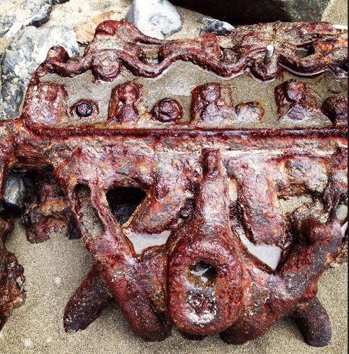 Beach Outdoor Rusty Engine Rusty Engine