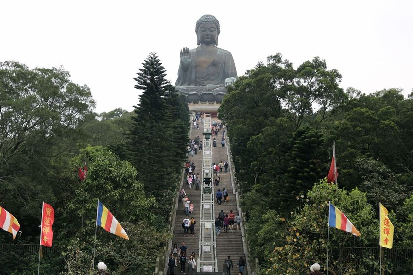 Big Buddah Buddah Buddah Statue Temple Hong Kong