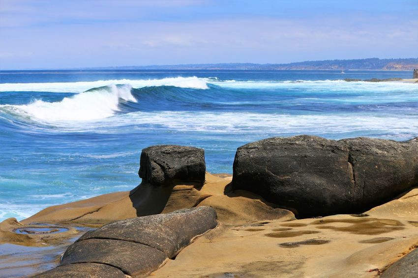 Beach Photography Been There. Been There. Done That Daytime La Jolla Beach La Jolla, California Nature San Diego Sunny Beach Beauty In Nature Been There, Done That Horizon Over Water La Jolla Nature No People Ocean Outdoors Rock - Object Scenics Sea Water Wave Waves Waves And Rocks