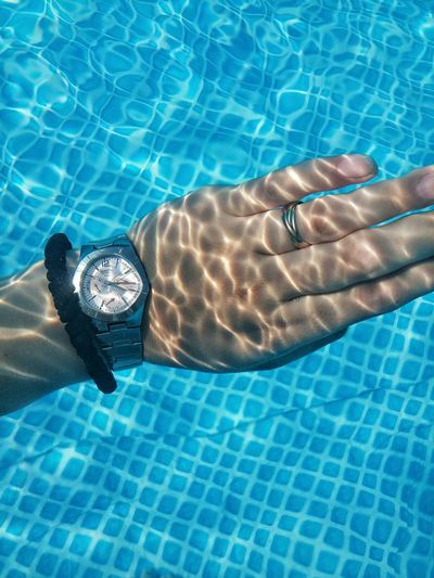 EyeEm Best Shots EyeEm Best Edits EyeEmBestPics Summer Pool Pool Time Swimming Backyard Hand Watch Sureal Light And Shadow Playing With Water Showcase July Belgrade,Serbia The EyeEm Collection Getty Images