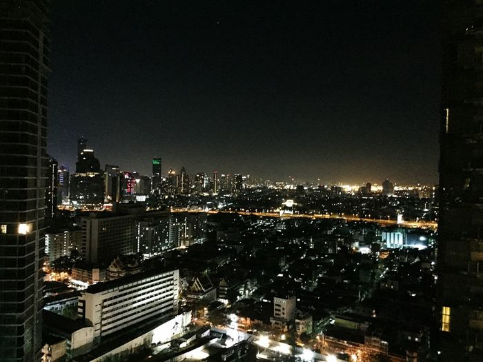 Architecture Illuminated Cityscape Building Exterior City Skyscraper Night Built Structure Modern No People High Angle View Urban Skyline City Life Travel Destinations Outdoors Sky Growth Bangkok