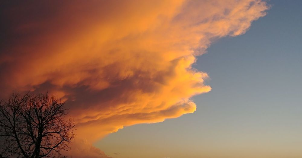 Storm coming in at dusk. #Illinois #storm #colorful sky Astronomy Blue Social Issues Silhouette