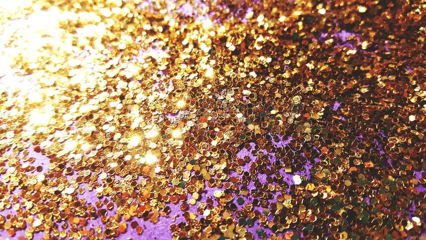Backgrounds Full Frame Celebration Event Confetti Party - Social Event Indoors  Close-up No People Glitter Gold Purple Background