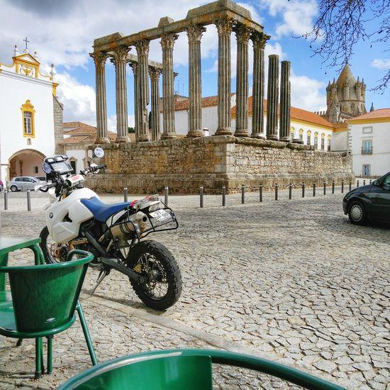 Riding day! Alentejo-Portugal Évora Popular Photos Streetphotography Roman Temple Bmw Motorcycle BMW Motorrad