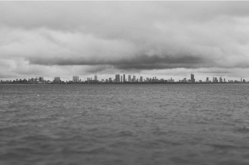 Shoreline, Mumbai. Sea Water Cloud - Sky Horizon Over Water Nature Sky Mumbai Monsoon Monsoon Season Monsoon In India Monsoon Rains Monsoonshowers Skyscrapers Skyscrapers In The Clouds Skyscrapers, Clouds, Urban Jungle, Downtown, EyeEmNewHere