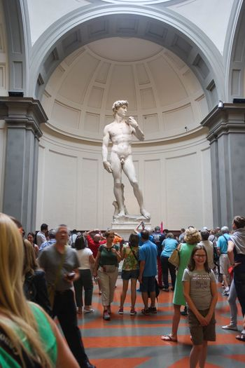 Statue of David. Galleria Dell'accademia Florence Italy Florence Travel Destinations Italy Sculpture Statue Indoors  Cultures Statue Of David History History