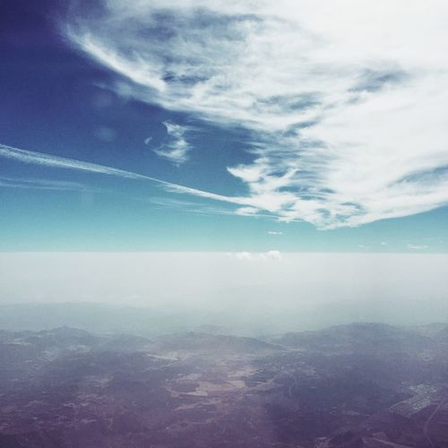 Arriving into Malaga Aerial View Sky First Eyeem Photo Fresh On Eyeem  Tranquility Cloud - Sky Beauty In Nature Flying View Scenics Blue Sky