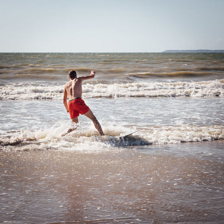 Sea Water Land Beach Motion Wave Horizon Over Water Sky One Person Sport Leisure Activity Horizon Shirtless Full Length Men Lifestyles Nature Aquatic Sport Beauty In Nature Outdoors Surf Surfing Wave Water Sport Surfboard Surfer Seascape Ocean Rushing