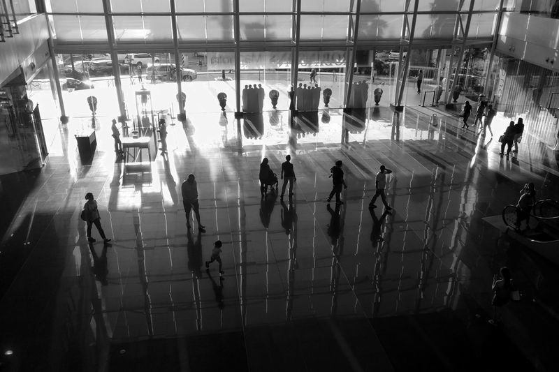 My Magnolia Shopping Mall Mall Mall Scene Shopping Building Interior Structure Lines Patterns Mall Goers Shoppers Black And White Silouette Shadows Light And Shadow Light People Entrance Men Women Entry Entryway