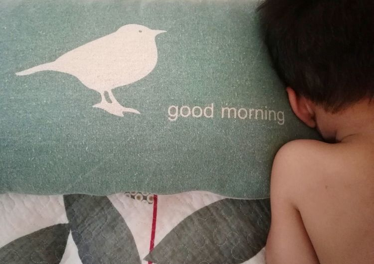 Be. Ready. Happy Wakeup Morning Monday Blues Bedroom Comfort Children Only On Bed Human Body Part Life Day Tired