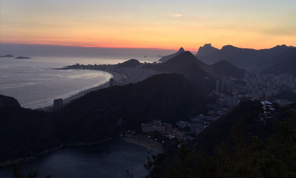 Urca and Copacabana beach, view from Sugar Loaf. Architecture Beauty In Nature Brasil Building Exterior Cityscape Copacabana Landscape Mountain Nature Outdoors Rio De Janeiro Rio De Janeiro Eyeem Fotos Collection⛵ Scenics Sea Sky Sugar Loaf Sunset Urca And Copacabana Beach Urca Beach 🇧🇷 Fresh On Eyeem  Landscapes The City Light The Great Outdoors - 2017 EyeEm Awards Colour Your Horizn Adventures In The City