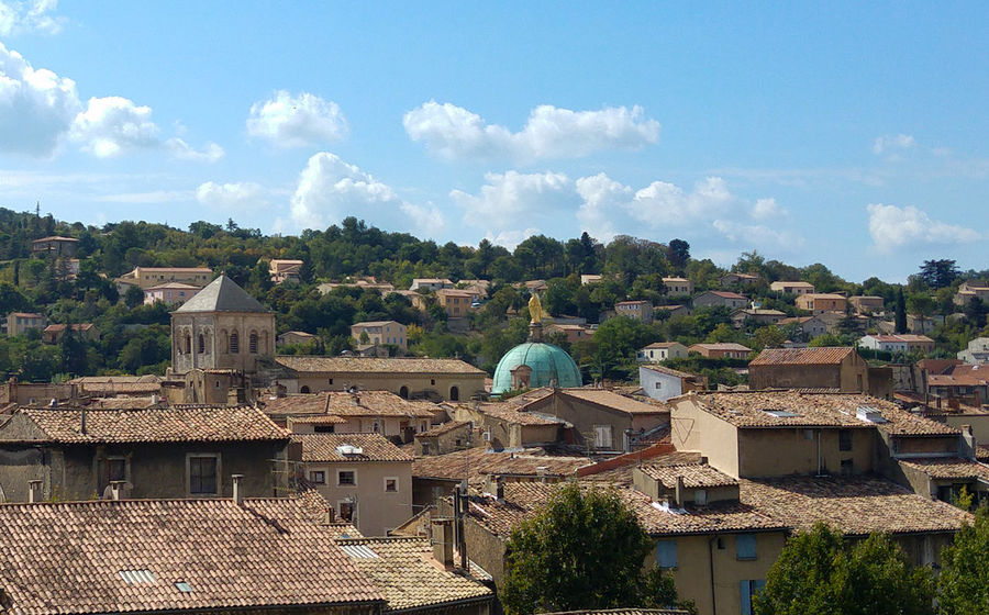 Architecture Bikesandlife City City Life Cloud Cloud - Sky Dome Outdoors Provence Rooftop Town
