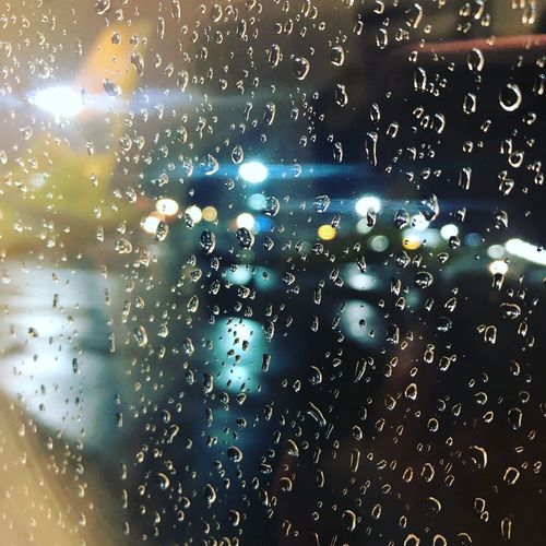 Plane Window Window Glass - Material Drop Water Wet Full Frame Transparent Close-up RainDrop