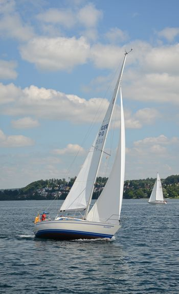Canvas Cloud - Sky Day Luxury Mast Mode Of Transportation Nature Nautical Vessel No People Outdoors Sailboat Sailing Scenics - Nature Sea Sky Transportation Travel Water Waterfront Yacht Yachting