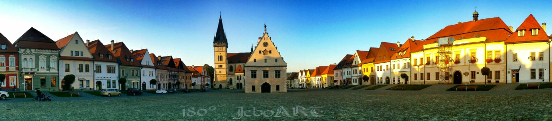 Church Historical Building Square Panorama Buildings My Town 180° Bardejov