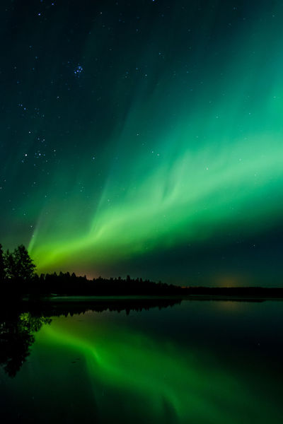 Northern lights in Finland Astronomy Aurora Aurora Borealis Beautiful Beauty In Nature Colorful Constellation Dramatic Sky Green Lake Lake View Landscape Lights Long Exposure Natural Phenomenon Nature Night Photography No People Northern Lights Outdoors Reflection Star - Space Star Field Stars Water