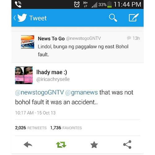 It was an accident. Tweet Twitter English Thismademesmile reply boholfault