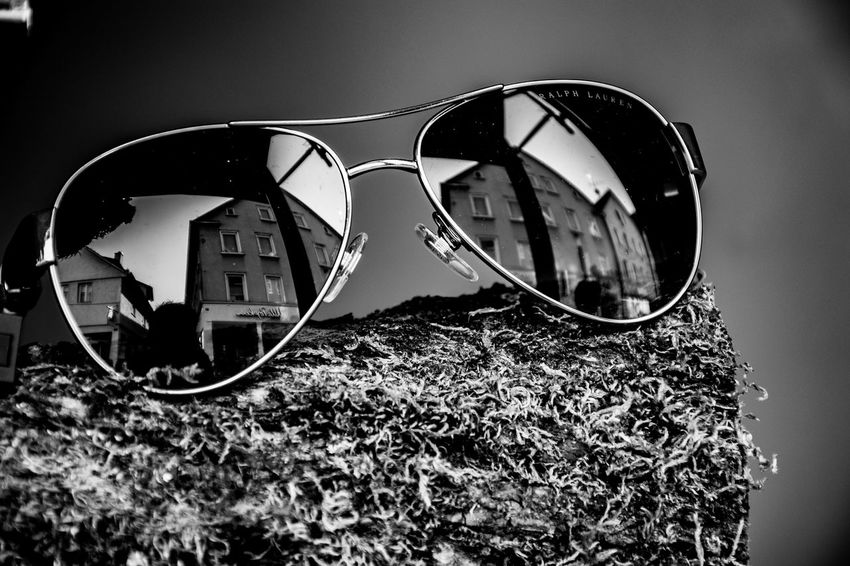 Glasses Sunglasses Fashion Reflection Personal Accessory Close-up Eyeglasses  Protection Security Nature Focus On Foreground Day Eyewear Outdoors Still Life Architecture Glass - Material No People Built Structure Black & White Blackandwhite Photography Eye4photography  Eye4black&white  EyeEmNewHere EyeEm Selects