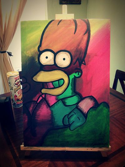 Art by F.Lumbreras year 2015 Art, Drawing, Creativity ArtWork Art Drawing Homero Homer Simpson Art Yourself