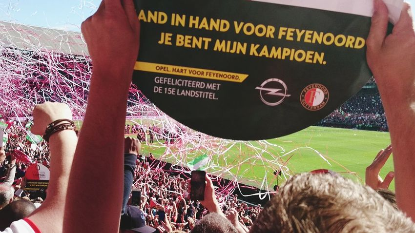 Soccer Human Body Part People Adult Outdoors Togetherness Human Hand Sky Feyenoord The Photojournalist - 2017 EyeEm Awards Eredivisie Champion Winner Happy Feyenoord Fans (c) 2017 Shangita Bose All Rights Reserved The Street Photographer - 2017 EyeEm Awards Green Color