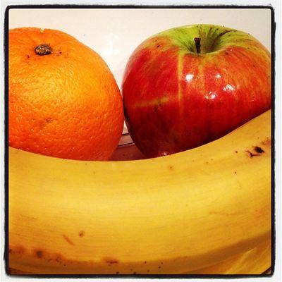 17: fruit #fmsphotoaday #photoadayoct #apple #banana #orange #fruit #iphone #iphone5 IPhone Fruit Apple Orange Banana IPhone5 Fmsphotoaday Photoadayoct