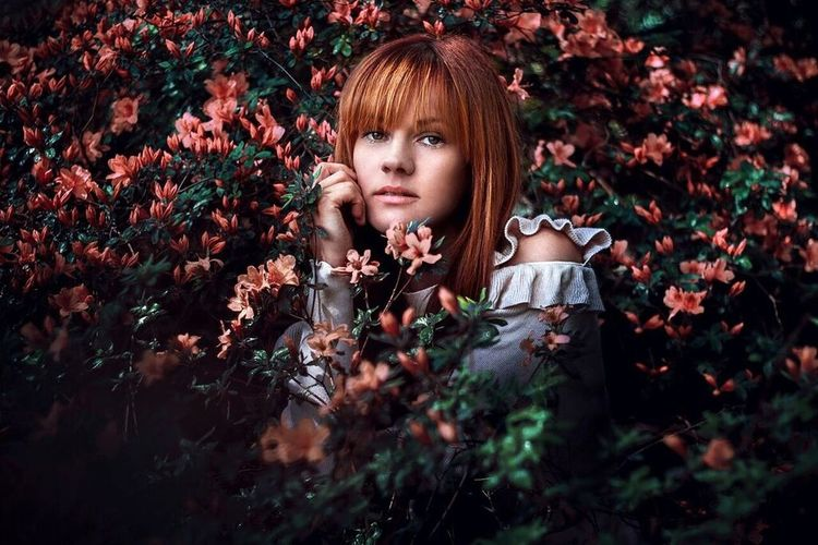 👱 Shaira 🌸 Redhead Flower Beauty Beautiful Woman Nature People Portrait Outdoors Young Women Natural Light Portrait Beautiful People Springtime Bielefeld Natural Beauty Canon60d 50mm Portrait Of A Woman Females Botanicalgarden Dark Portrait Available Light Naturelovers Beauty In Nature