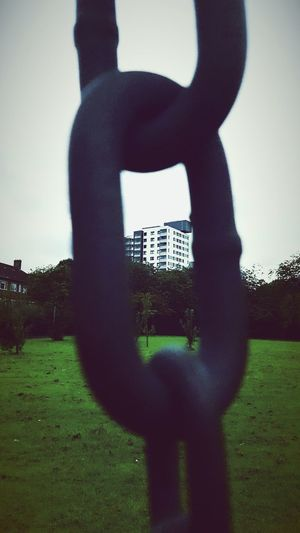 This Is Old Traffordday 24. Another View Chains Looking Through In The Park Tower Block  Outdoors Architecture City Life