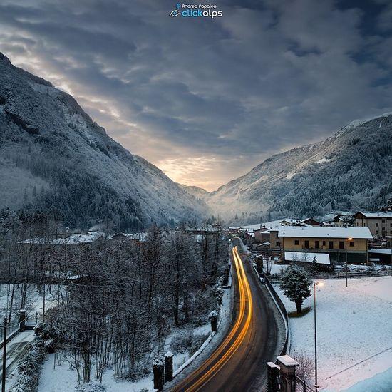 Gromo e la magia di un Alba invernale Gromo EyeEm Italy Lombardia