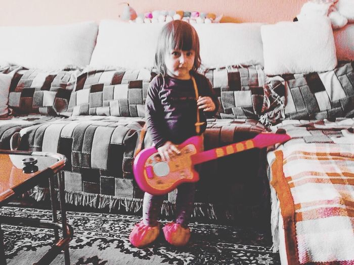 Little Girl More Girls With Guitars Taking Photos My Little Princess My Cousin Sweet Dedicated Musicians Uniqueness EyeEmNewHere