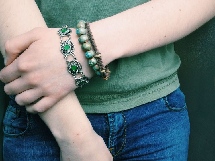 My Unique Style : Bracelets which mean a lot. ( Bracelet Antique Green Beeds Style Hand Hands Arms )