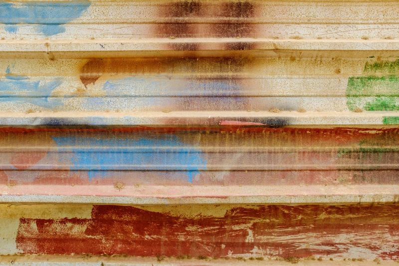 Abstract Backgrounds Paint Multi Colored Blue Yellow Painted Image Textured  Outdoors Environment Rust Decay