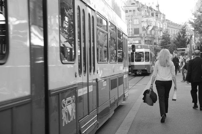 Zürich Transportation Street Daytime City Mode Of Transport Public Transportation Lifestyles Train - Vehicle City City Life