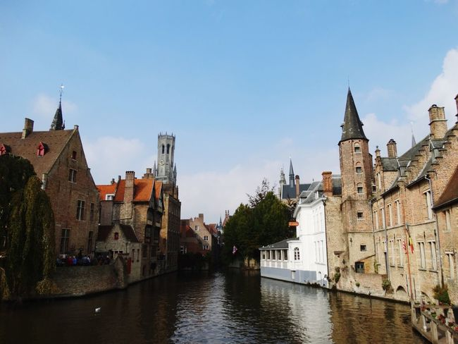 Architecture History Travel Destinations Cityscape City River Bridge - Man Made Structure Outdoors No People Politics And Government Water Urban Skyline Day Clock Face Sky Autumn Colors Brugge, Belgium Autumn In Brugge Canal Brugge Vacations Flamand Architecture Belgium Architecture Cityscape