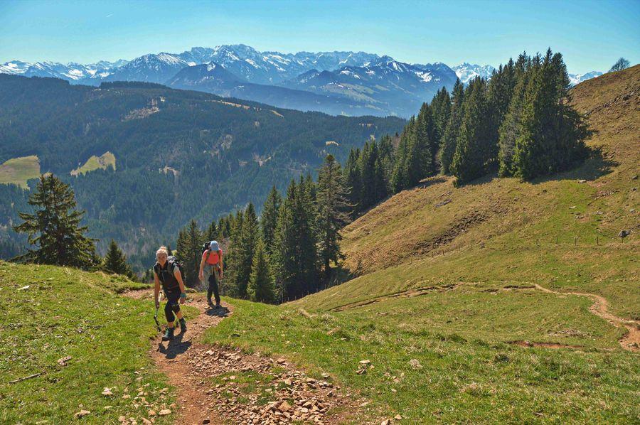 Two People Beauty In Nature Landscape Allgäuer Alpen Allgäuer Landschaft Hiking Sunny Day Alpen Alps Mountain Travel