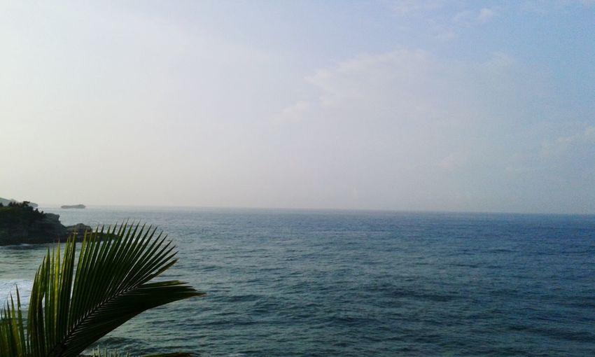 Morning scene of klayar beach