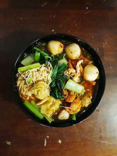 Noodle EyeEm Best Shots EyeEm First Photo EyeEm First Pic Noodles Hot Yellow Delicious Fish Ball Meal Food Food And Drink Healthy Eating Bowl Freshness Indoors  Table Vegetable Soup Close-up