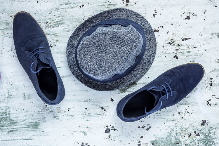 Absence Black Color Close-up Compatibility Day Directly Above Flooring High Angle View Nature No People Outdoors Pair Personal Accessory Shoe Shoelace Slipper  Sport Still Life Water