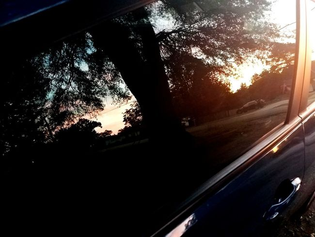 Car Window Sunset No People Outdoors Nature Beauty In Nature Land Vehicle Mode Of Transport Glass - Material