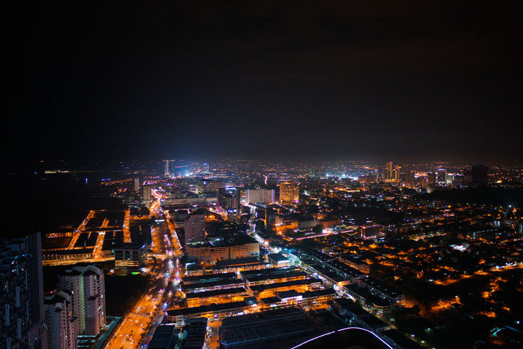 Top view of Malacca town at night. Wide angle view, some acceptable digital noise and grain. Cityscape City Building Exterior Architecture Built Structure Illuminated Night Building City Life High Angle View Office Building Exterior Skyscraper Nature Outdoors