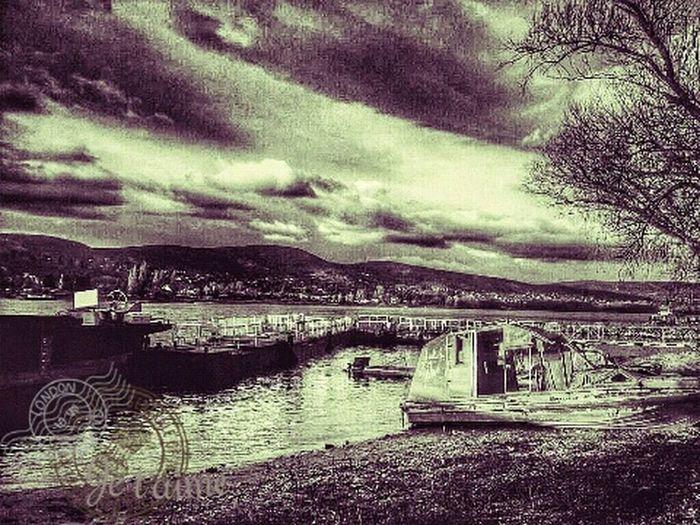 Vintage Ship Dock Port River