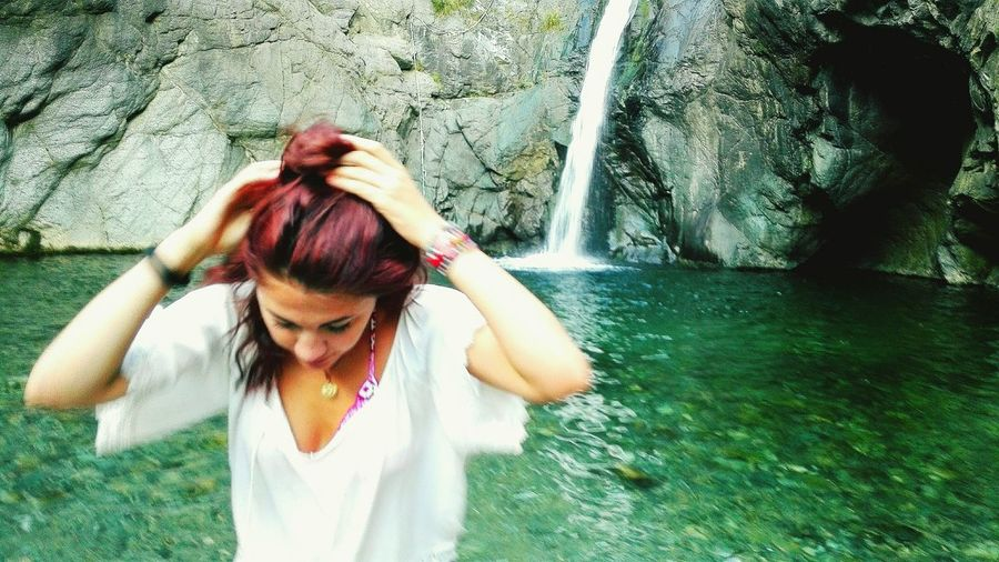 Girl Waterfall Nature_collection Nature Naturelovers Nature Photography Waterfall_collection