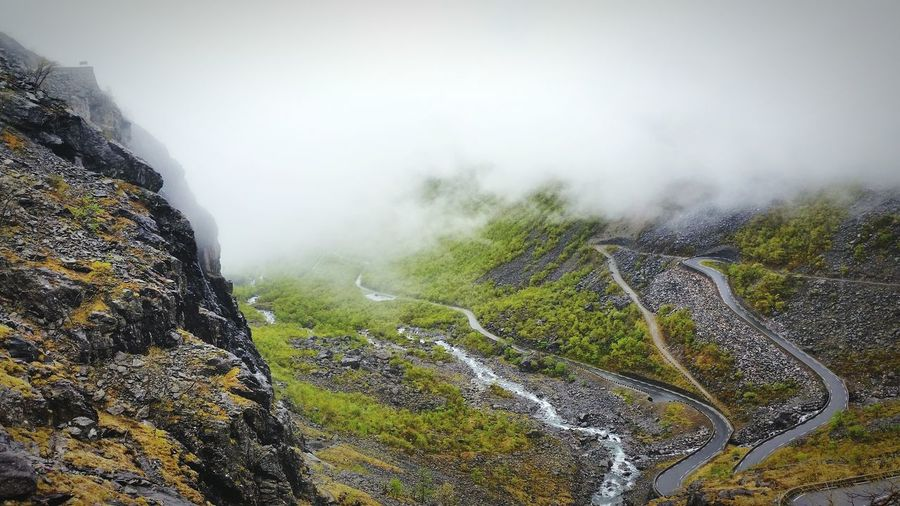 """The road up """"Trollstigen"""", not a funny road to meet someone on! Trollstigen Trollstigen Norway Norway Driving"""